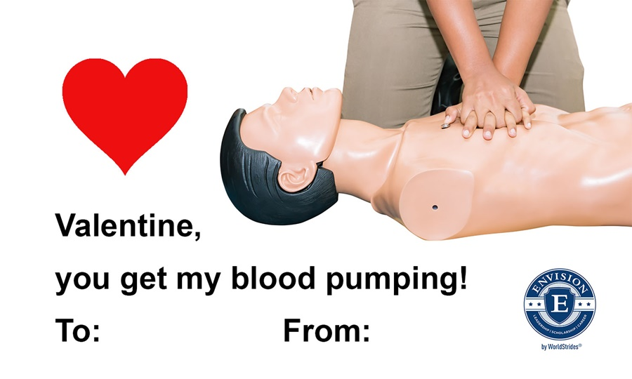 Medical Career Themed Valentine's Card