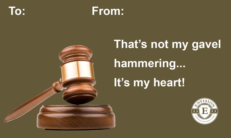 Law themed Valentine's Day Card