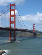 See the Golden Gate Bridge in San Francisco during your time at Intensive Law & Trial