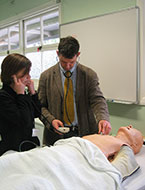 Medicine & Science student engaged in a medical exercise