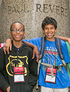 Middle school students for lasting friendships and learn leadership at JrNYLC Alumni.