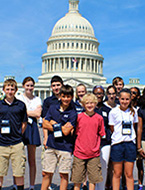 Junior National Young Leaders Conference students visit the U.S. Capitol Building