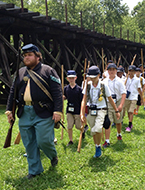Students engaged in learning the history of Harpers Ferry National Park