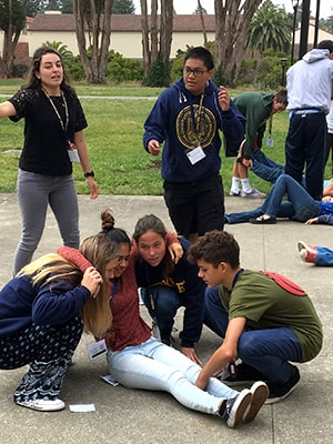Students participate in a true-to-life simulation and learn real-world skills at NYLF Medicine