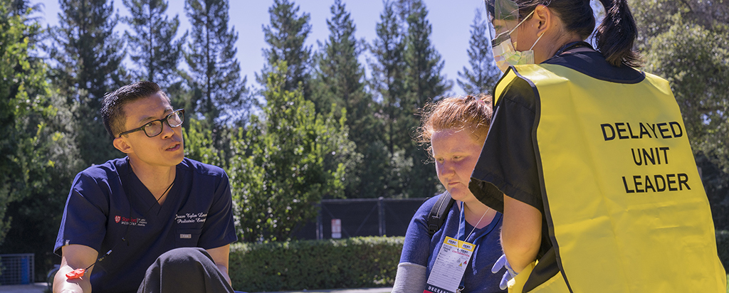 Emergency medicine drills at Stanford University